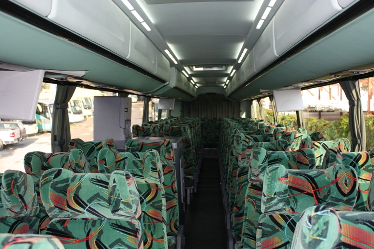 bus interior view for 59 people