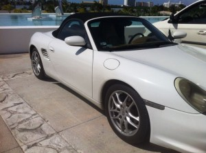 Porshe boxter for rent